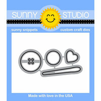 Sunny Studio Stamps - Sunny Snippets - Dies - Cute As A Button