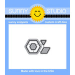 Sunny Studio Stamps - Sunny Snippets - Dies - Quilted Hexagons