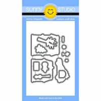 Sunny Studio Stamps - Christmas - Sunny Snippets - Dies - Christmas Home