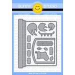 Sunny Studio Stamps - Christmas - Sunny Snippets - Dies - Fireplace Shaped Card