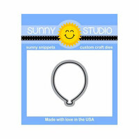Sunny Studio Stamps - Sunny Snippets - Dies - Birthday Balloon