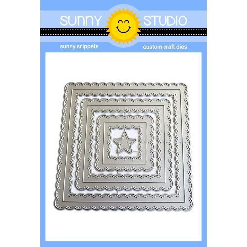 Sunny Studio Stamps - Sunny Snippets - Dies - Fancy Frames - Squares