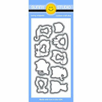 Sunny Studio Stamps - Sunny Snippets - Dies - Purrfect Birthday