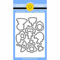 Sunny Studio Stamps - Sunny Snippets - Dies - Beach Babies