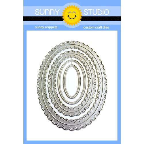 Sunny Studio Stamps - Sunny Snippets - Dies - Fancy Frames - Oval
