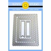 Sunny Studio Stamps - Sunny Snippets - Dies - Fancy Frames - Rectangle