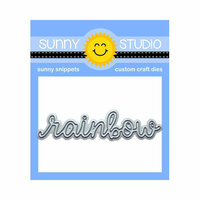 Sunny Studio Stamps - Sunny Snippets - Dies - Rainbow Word