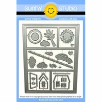 Sunny Studio Stamps - Sunny Snippets - Dies - Comic Strip Everyday