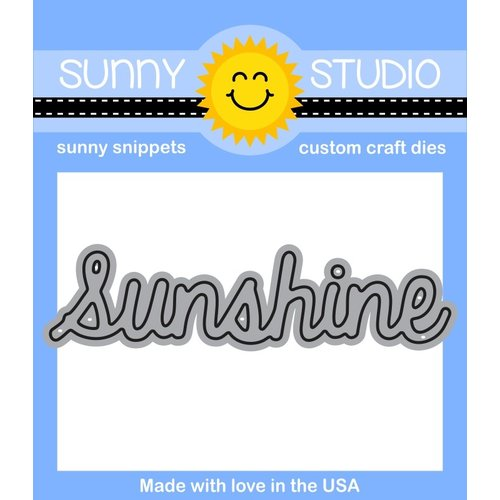 Sunny Studio Stamps - Sunny Snippets - Dies - Sunshine Word