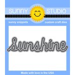 Sunny Studio Stamps - Sunny Snippets - Dies - Sunshine Word - 3 Inches