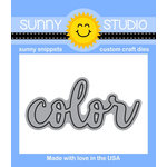 Sunny Studio Stamps - Sunny Snippets - Dies - Color Word