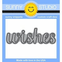 Sunny Studio Stamps - Sunny Snippets - Dies - Wishes Word