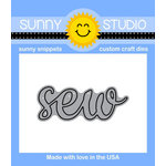 Sunny Studio Stamps - Sunny Snippets - Dies - Sew Word - 2 Inches