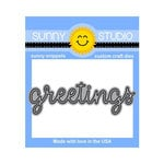 Sunny Studio Stamps - Sunny Snippets - Dies - Greetings Word