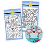 Sunny Studio Stamps - Snippits Die and Acrylic Stamp Set - Tropical Paradise Bundle