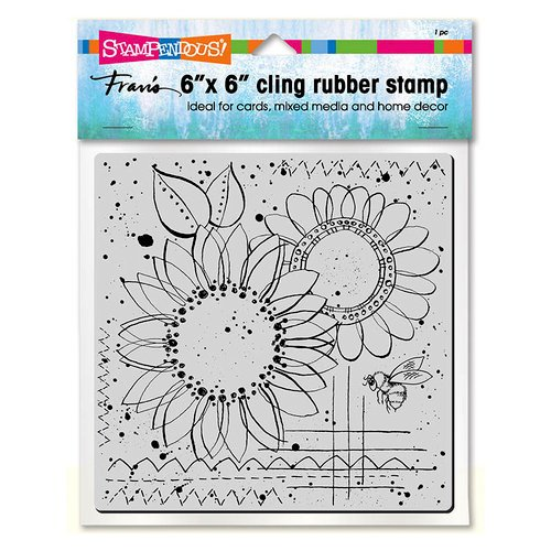 Stampendous - Cling Mounted Rubber Stamps - 6 x 6 - Sunny Sketch