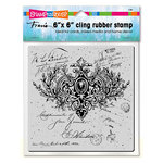 Stampendous - Cling Mounted Rubber Stamp - 6 x 6 - Ornate Scroll