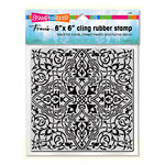 Stampendous - Cling Mounted Rubber Stamps - 6 x 6 - Moroccan Tile
