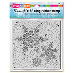 Stampendous - Christmas - Cling Mounted Rubber Stamps - 6 x 6 - Winter Blizzard