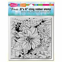 Stampendous - Cling Mounted Rubber Stamps - Dahlia Collage