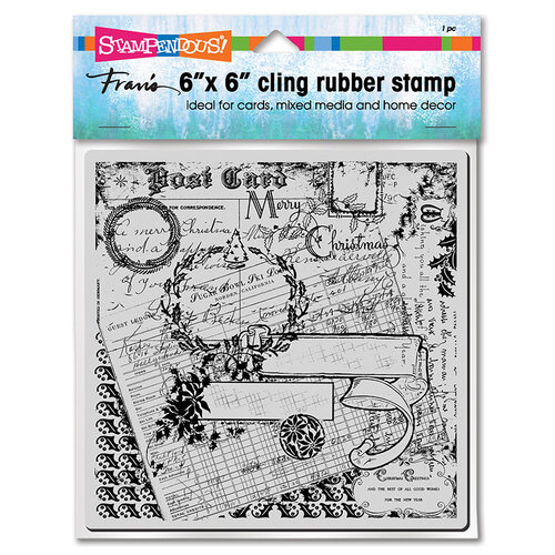 Stampendous - Christmas - Cling Mounted Rubber Stamps - Holiday Ephemera