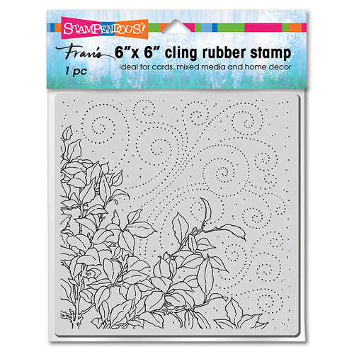 Stampendous - Cling Mounted Rubber Stamps - 6 x 6 - Leafy Breeze