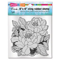 Stampendous - Cling Mounted Rubber Stamps - Peony Pair