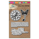 Stampendous - Cling Mounted Rubber Stamps - Steampunk