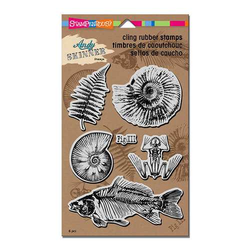 Stampendous - Cling Mounted Rubber Stamps - Fossils