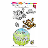 Stampendous - Die and Cling Mounted Rubber Stamps - Monkey