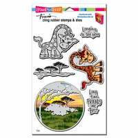 Stampendous - Die and Cling Mounted Rubber Stamps - Giraffe