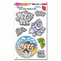 Stampendous - Die and Cling Mounted Rubber Stamps - Elephant