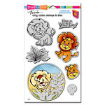 Stampendous - Die and Cling Mounted Rubber Stamps - Lion