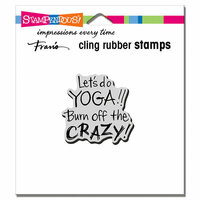 Stampendous - Cling Mounted Rubber Stamps - Yoga Crazy