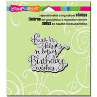 Stampendous - Cling Mounted Rubber Stamps - Hugs Kisses Wishes