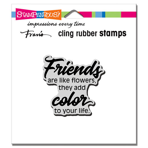 Stampendous - Cling Mounted Rubber Stamps - Friends Add Color
