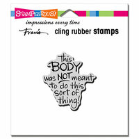 Stampendous - Cling Mounted Rubber Stamps - This Body