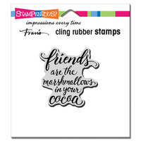 Stampendous - Cling Mounted Rubber Stamps - Marshmallow Friends