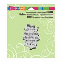 Stampendous - Cling Mounted Rubber Stamps - Delightful Birthday