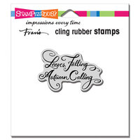 Stampendous - Cling Mounted Rubber Stamps - Leaves Falling