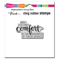Stampendous - Christmas - Cling Mounted Rubber Stamps - Comfort Wishes