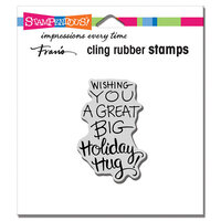 Stampendous - Christmas - Cling Mounted Rubber Stamps - Holiday Hug
