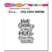 Stampendous - Christmas - Cling Mounted Rubber Stamps - Cocoa Hug