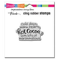 Stampendous - Christmas - Cling Mounted Rubber Stamps - With Marshmallows