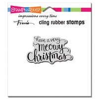 Stampendous - Cling Mounted Rubber Stamps - Meowy Christmas