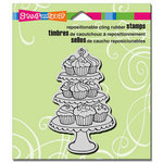 Stampendous - Cling Mounted Rubber Stamps - Cupcake Tiers