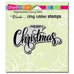 Stampendous - Christmas - Cling Mounted Rubber Stamps - Merry Greeting