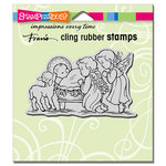 Stampendous - Christmas - Cling Mounted Rubber Stamps - Manger Cherubim