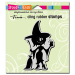 Stampendous - Halloween - Cling Mounted Rubber Stamps - Witch Selfie
