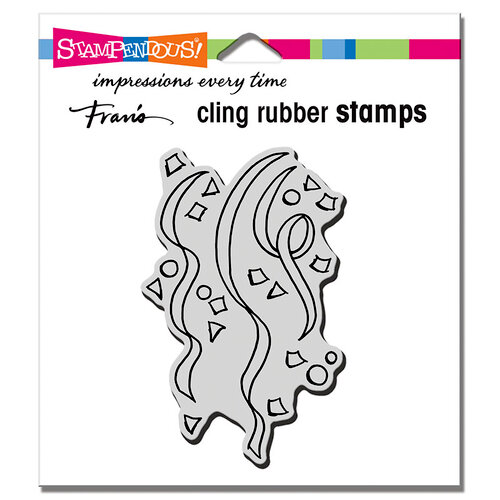 Stampendous - Cling Mounted Rubber Stamps - Confetti Streamers
